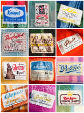 Load image into Gallery viewer, Label Love A3 ART PRINT, New Zealand Wool Blanket Labels Kiwiana