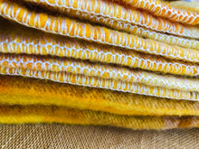 Load image into Gallery viewer, Golden Sunshine Superthick SINGLE Wool Blanket by Onehunga Woollen Mills - Fresh Retro Love NZ Wool Blankets