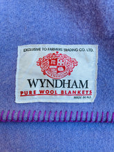 Load image into Gallery viewer, Warm Violet SINGLE Pure Wool Blanket. Wyndham NZ Wool