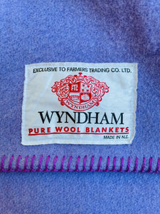Warm Violet SINGLE Pure Wool Blanket. Wyndham NZ Wool