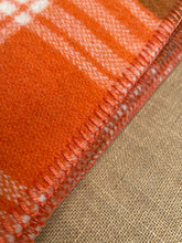 Load image into Gallery viewer, Retro Orange & Olive SINGLE NZ Wool blanket