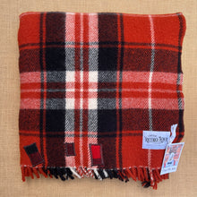 Load image into Gallery viewer, Thick and Soft Brick Red TRAVEL RUG - New Zealand Wool Blanket