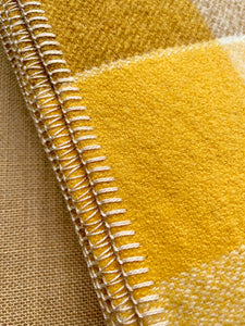 Bright Retro Browns & Mustard DOUBLE Wool Blanket