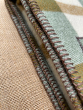 Load image into Gallery viewer, Earthy Olives & Browns KNEE/COT New Zealand Wool Blanket