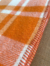 Load image into Gallery viewer, Mandarin Orange SINGLE NZ Wool blanket  - Galaxie!