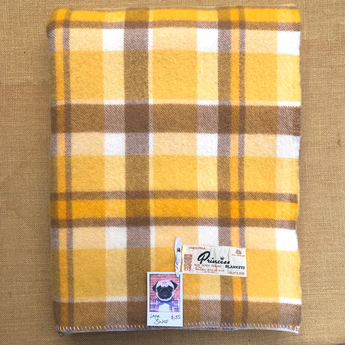 Super Soft Oversize SINGLE in golden sunset browns - Onehunga Woollen Mills - Fresh Retro Love NZ Wool Blankets