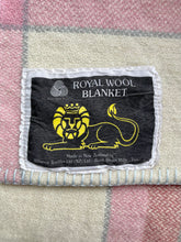 Load image into Gallery viewer, Light Pink and Grey DOUBLE Royal Wool New Zealand Blanket