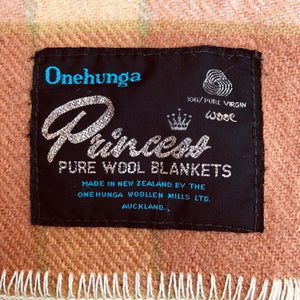 Onehunga New Zealand Wool SINGLE/THROW Blanket in Warm Check Colours