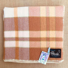 Load image into Gallery viewer, Onehunga New Zealand Wool SINGLE/THROW Blanket in Warm Check Colours