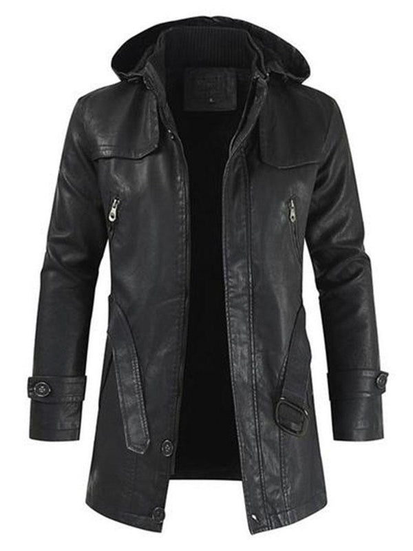 COLLAR - Super mooi en comfortabel leder WINDBREAKER