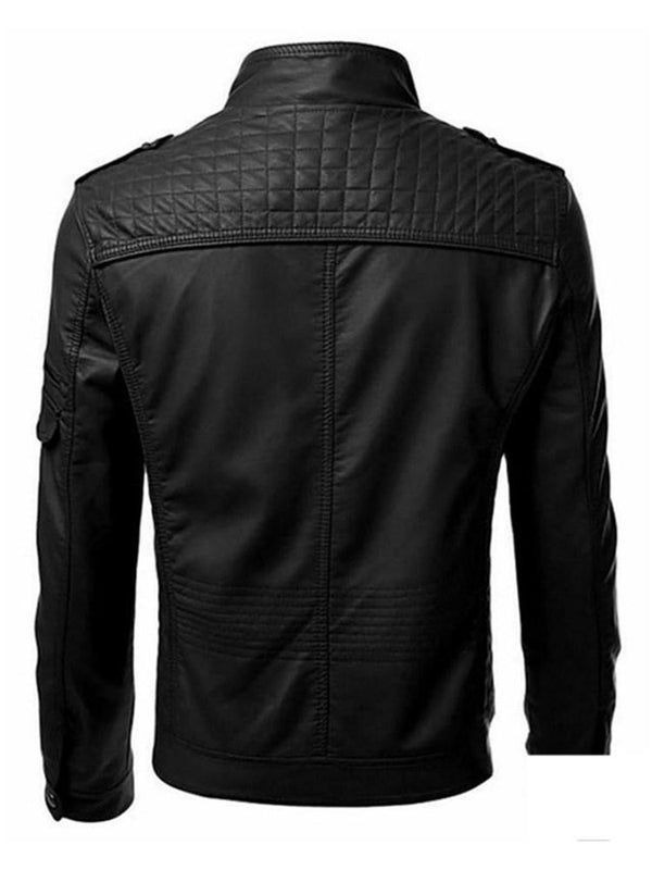 SLIM - Super mooi en comfortabel leder WINDBREAKER