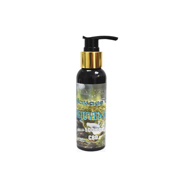 Doctor Green's 500mg CBD Massage Oil 100ml - Rejuvenate