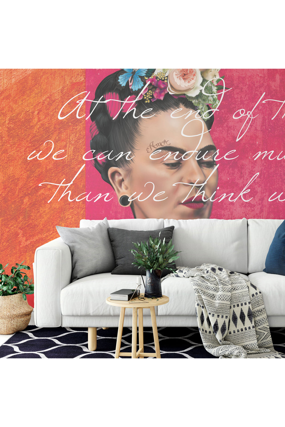 Skeletons of Frida Letters Wallpaper / Custom Wallpaper