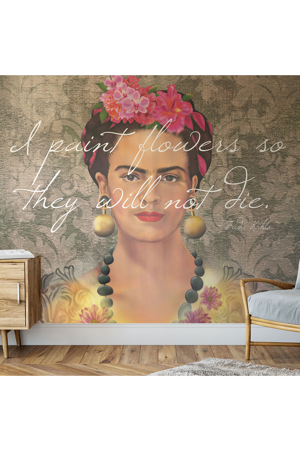 Flowers of Frida Letters Wallpaper / Custom Wallpaper