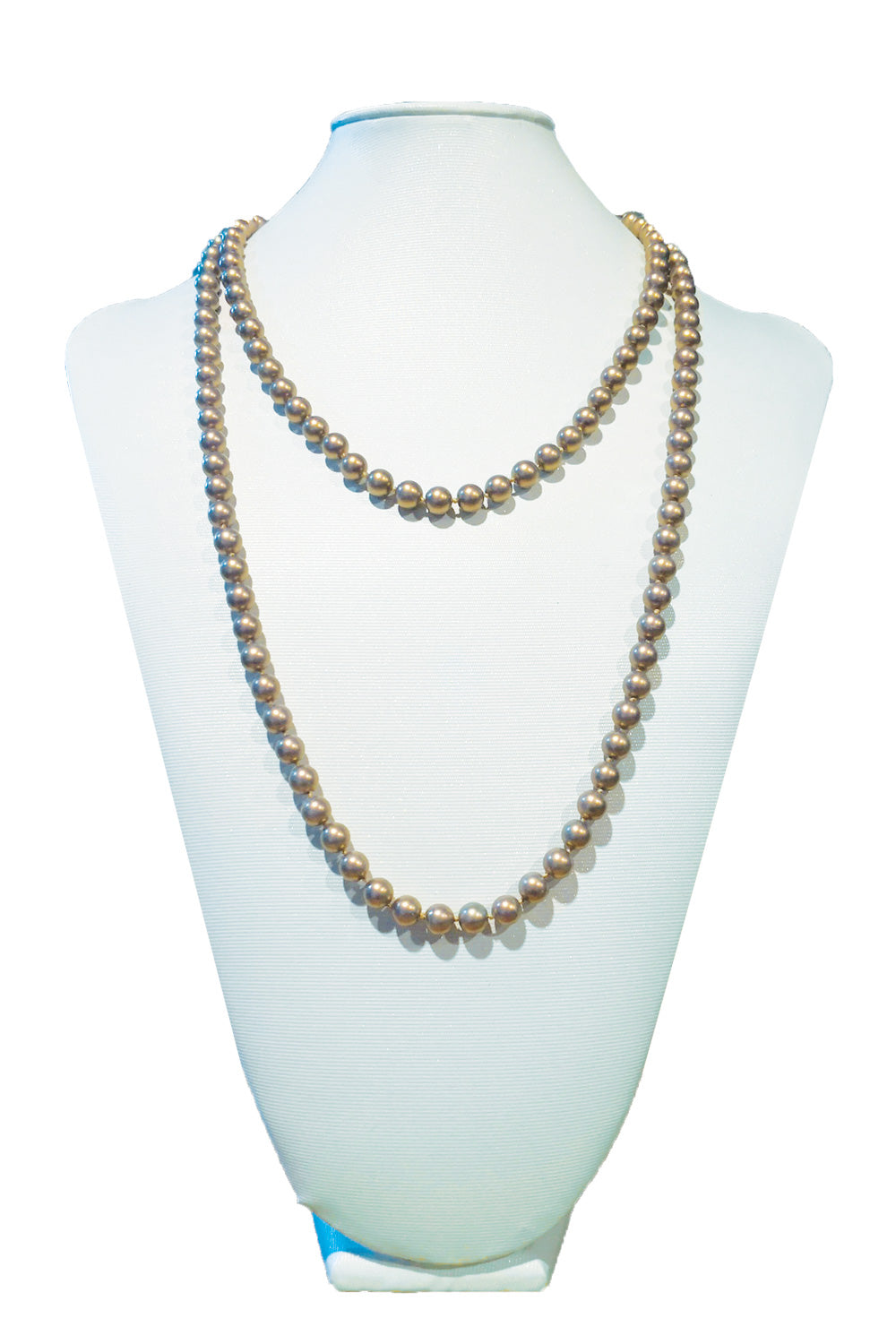 Bronze Matte Costume Pearl Necklace | Annah Stretton | Designer Accessories