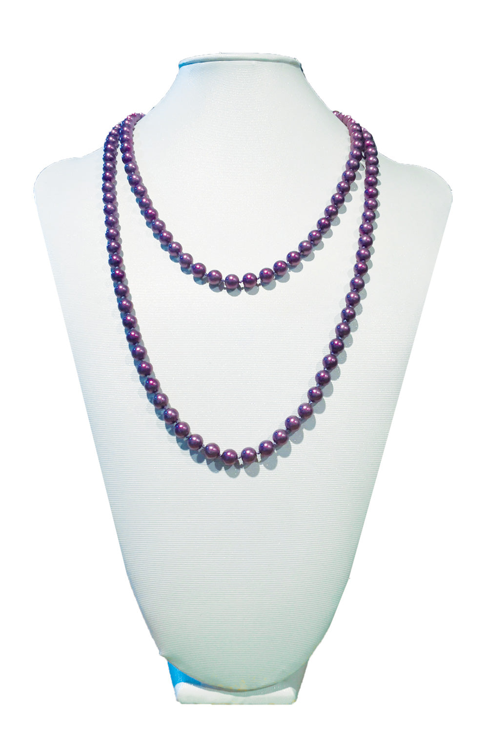 Purple Matte Costume Pearl Necklace | Annah Stretton | Designer Accessories