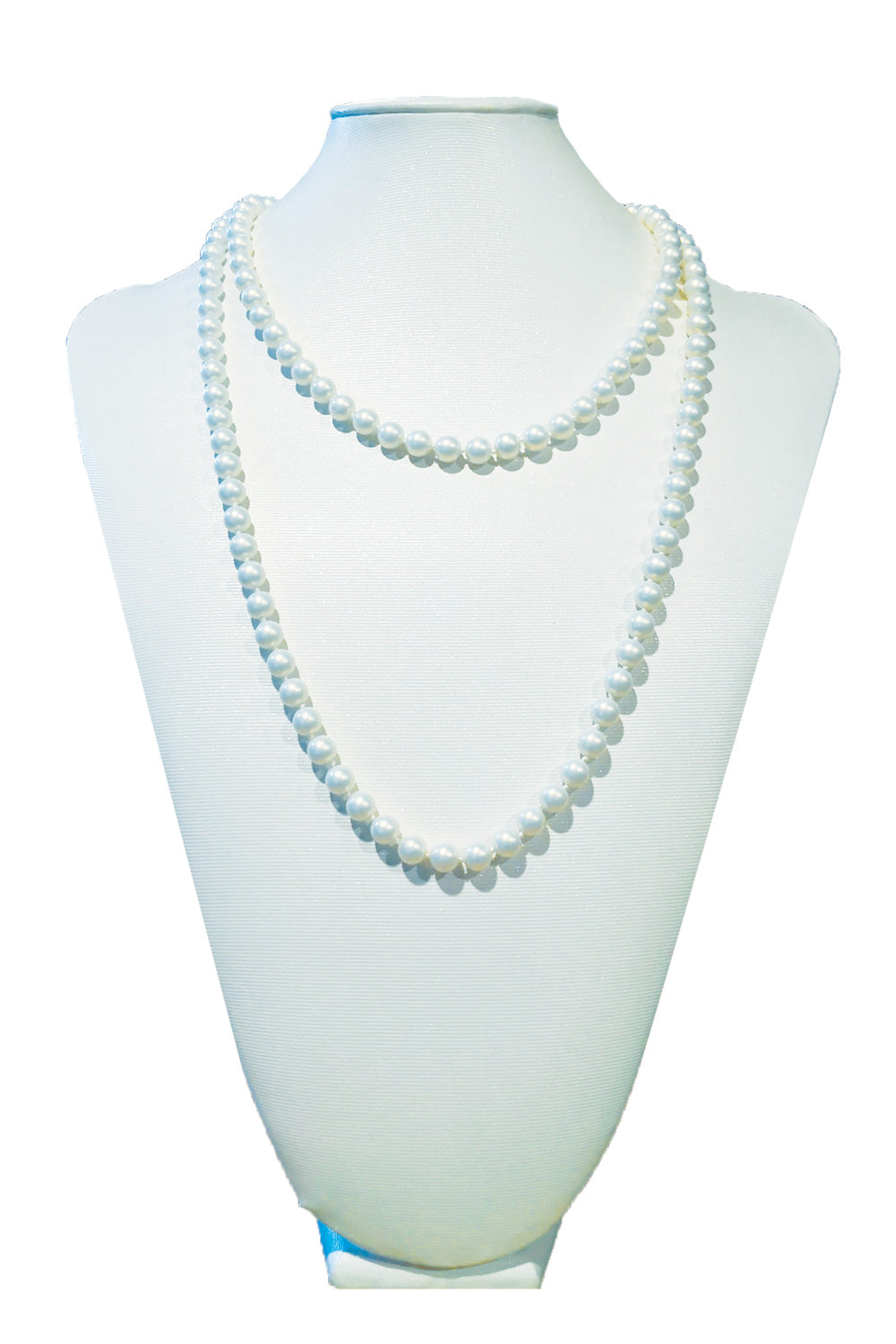 White Matte Costume Pearl Necklace | Annah Stretton | Designer Accessories