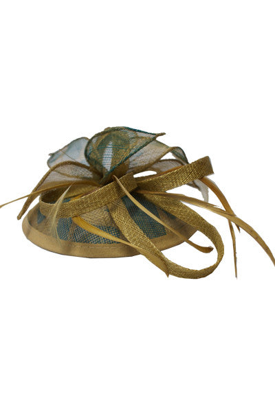 Golden Flowers Fascinator