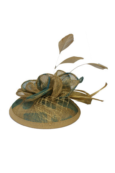Golden Feathers Fascinator