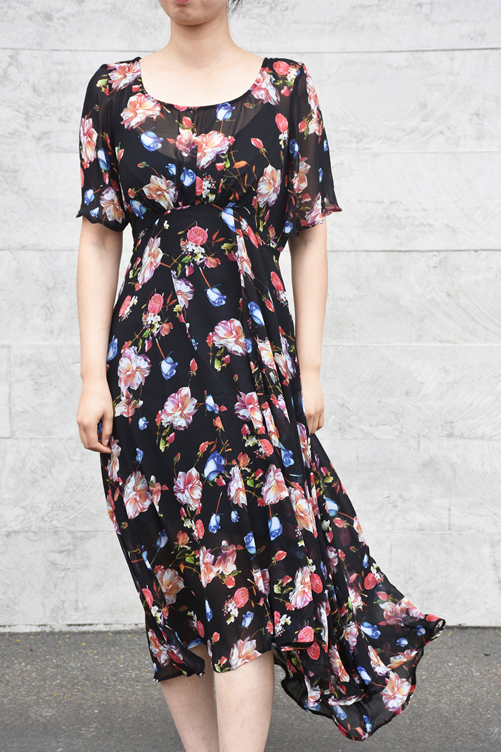 Down Town Dress - Black Rose