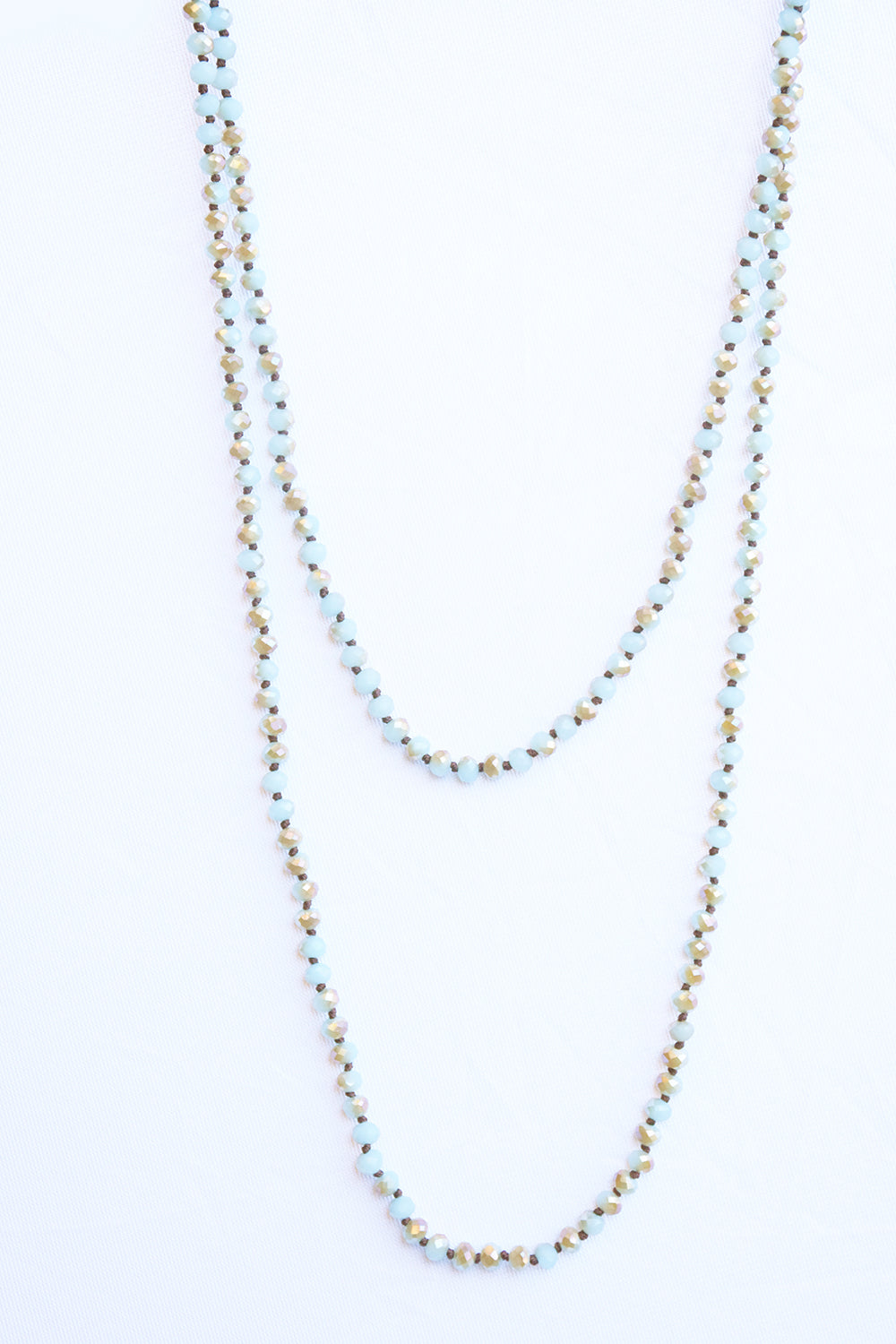 Glass Bead Necklace - Mint