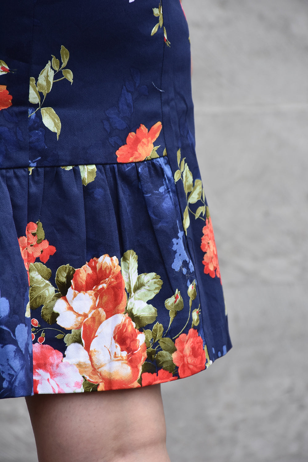 Sorrel Sky Dress- Navy Rose