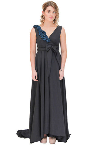 Hire Me -  Navy Didion Wrap Dress