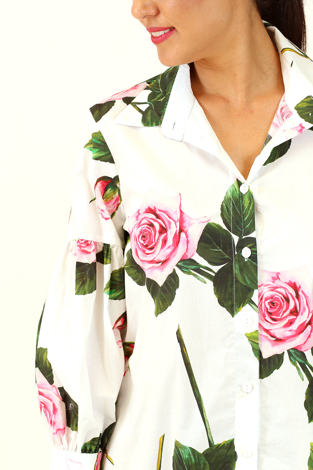 Popo Shirt - White Rose