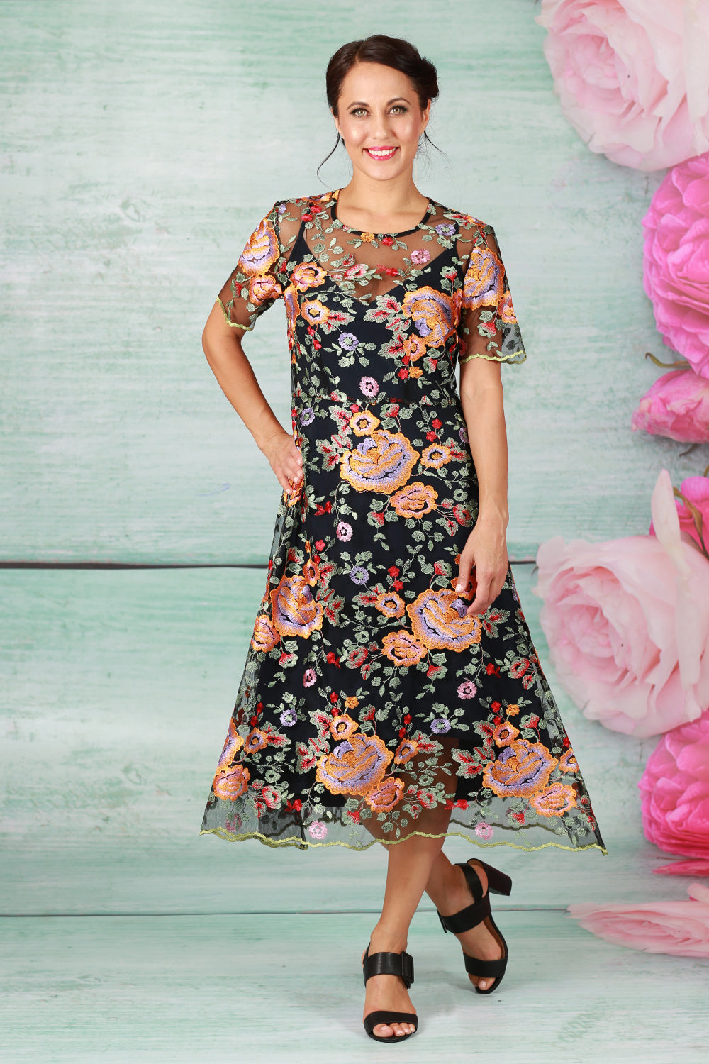 Robyn Ray Dress - Orange Rose - PRE ORDER