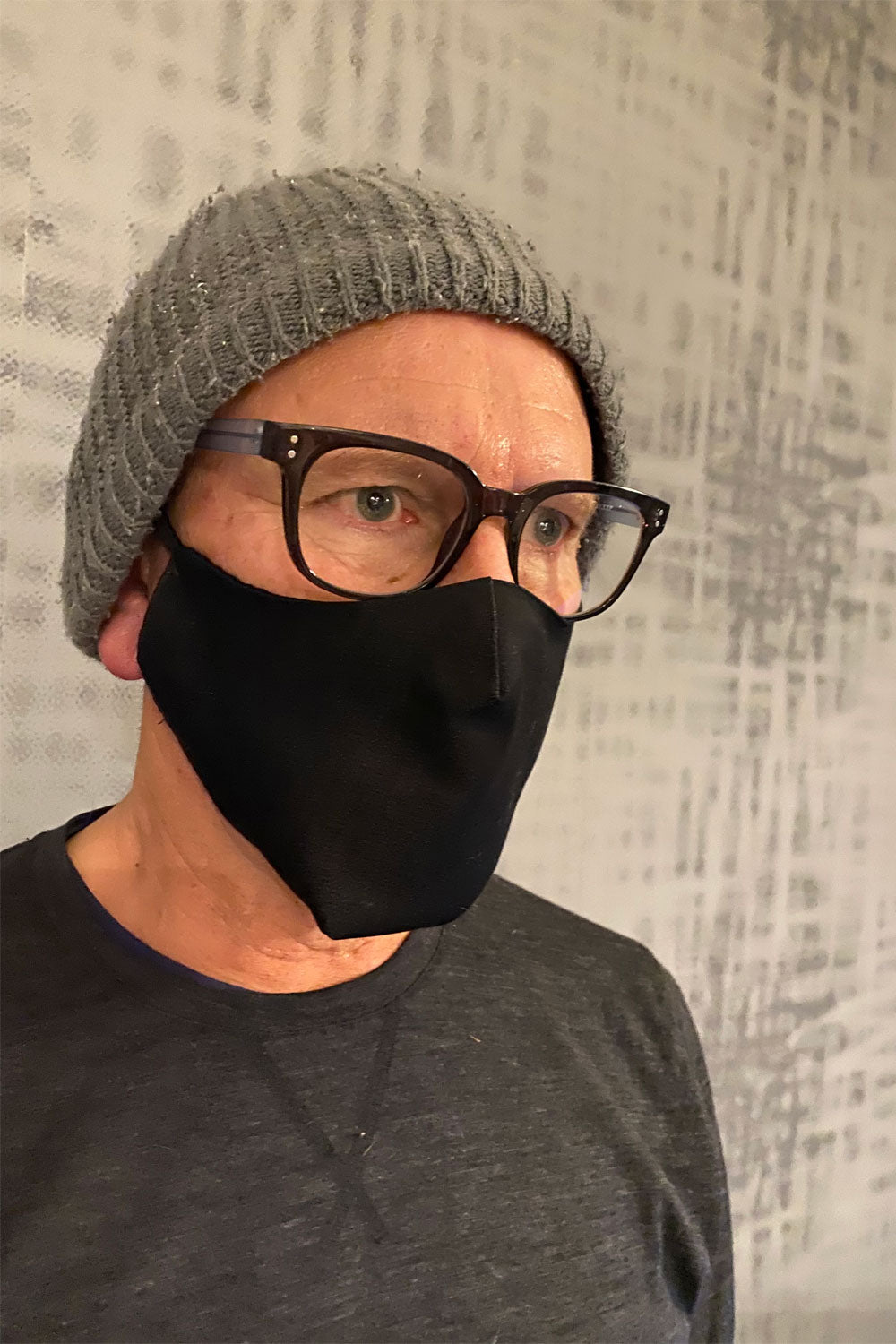 Men's Simplistic Cotton Face Mask (With Helix.iso Filter) - Black