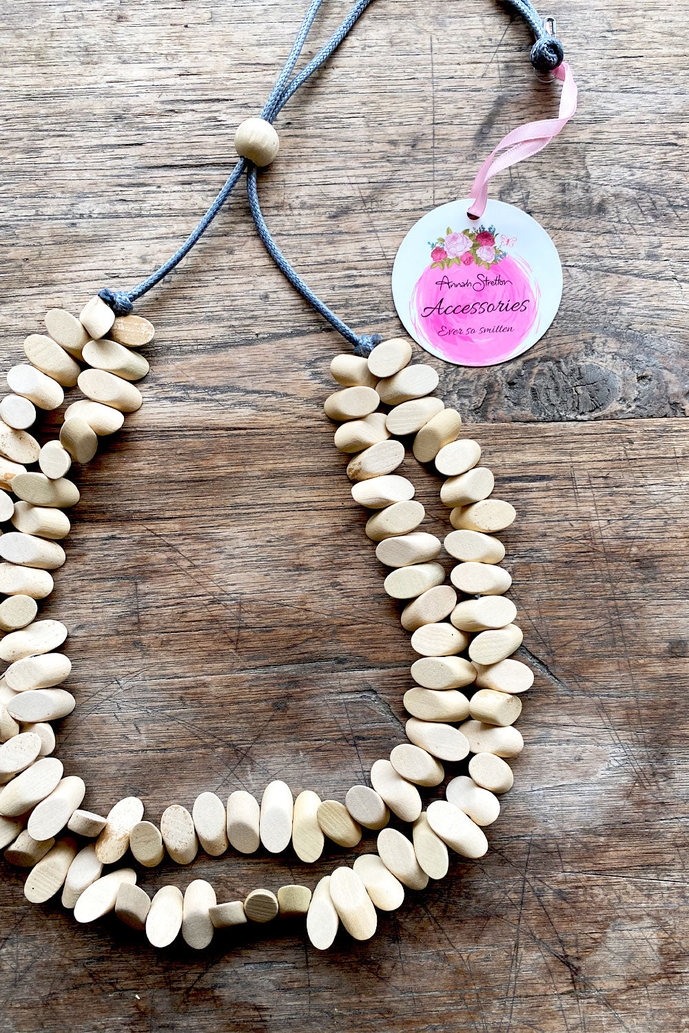 Wooden Bone Necklace