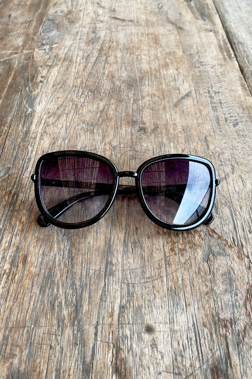 Black Rimed Square Sunglasses