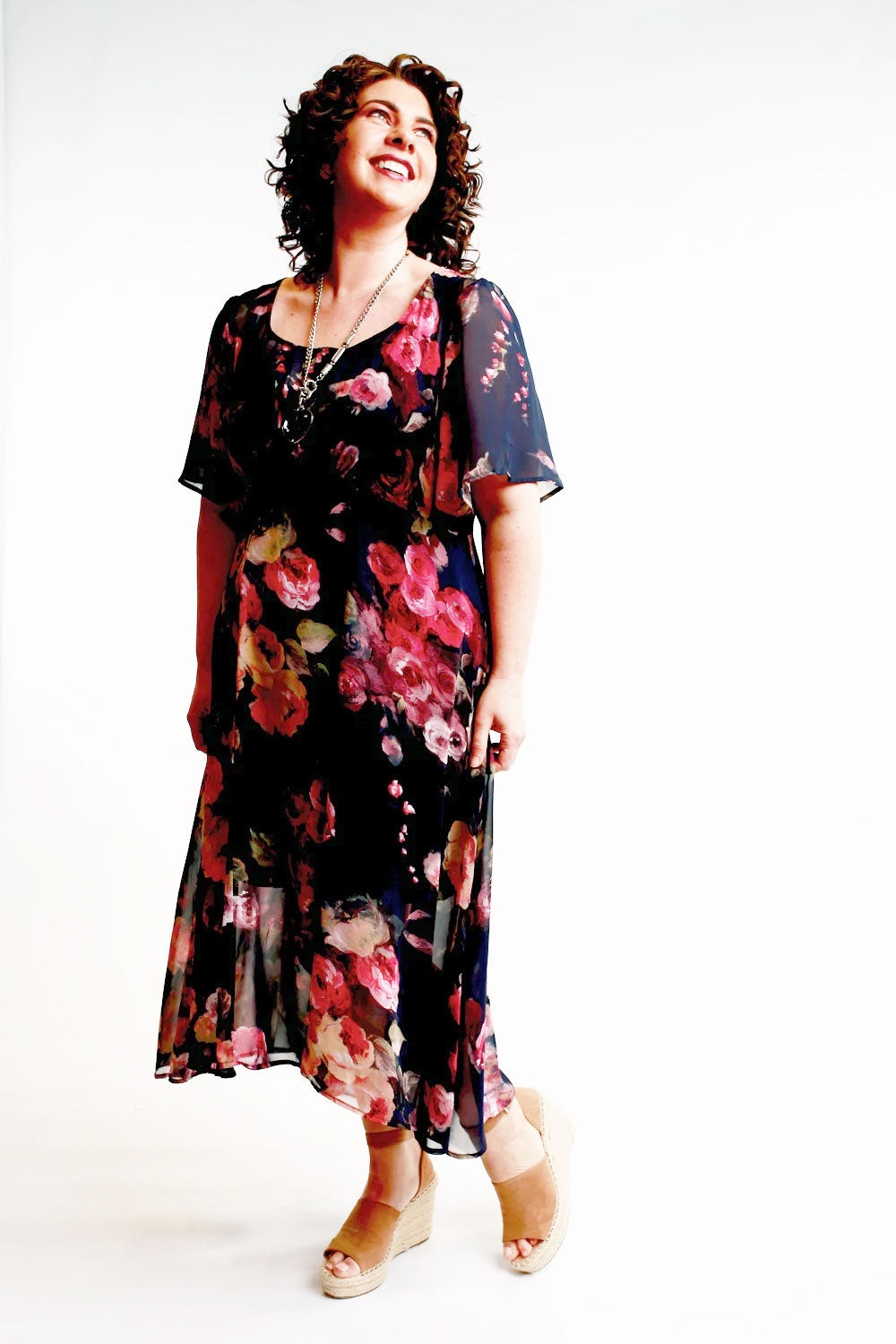 Down Town Navy Floral Dress - Jo