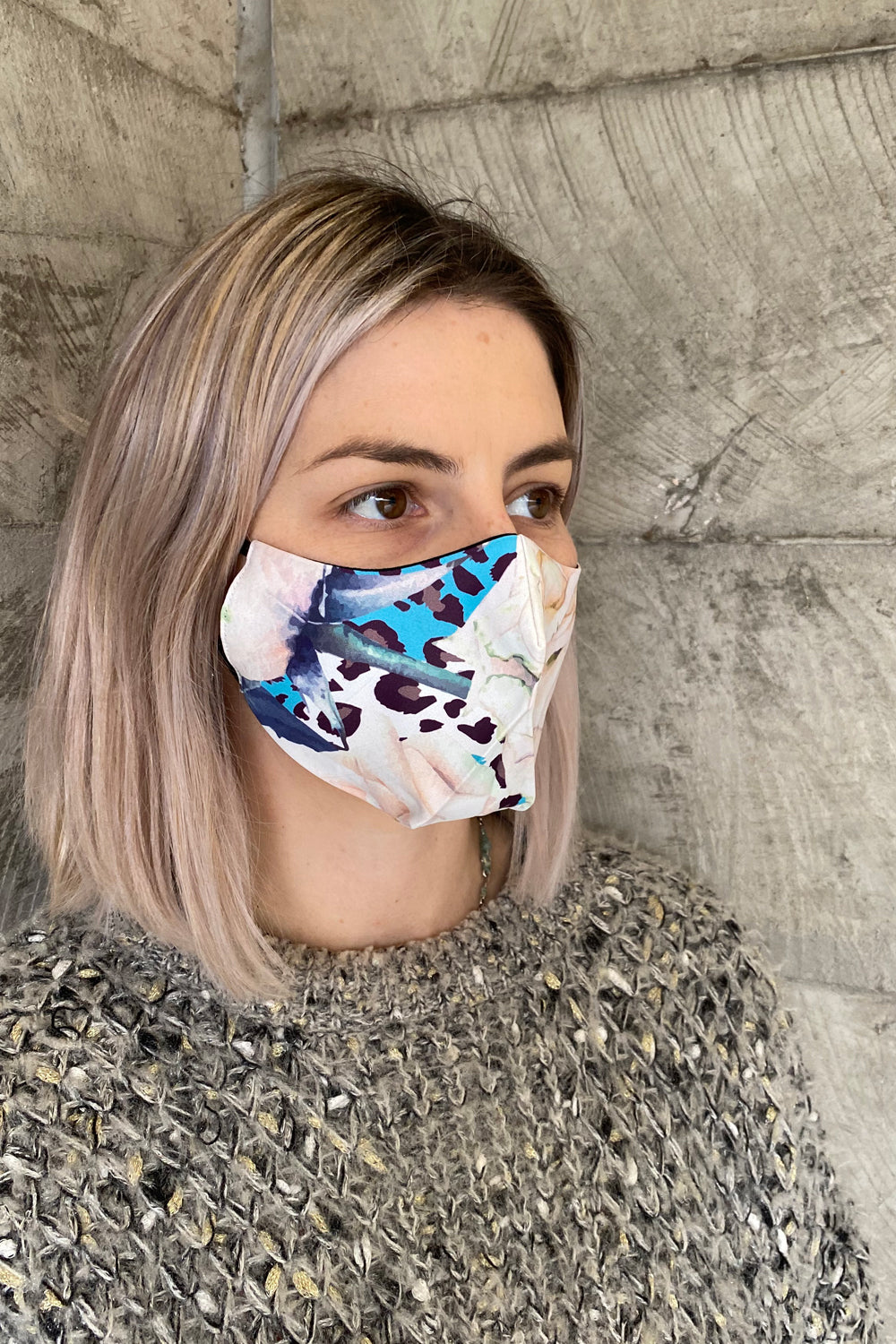 Women's Simplistic Cotton Face Mask - Vintage Rose