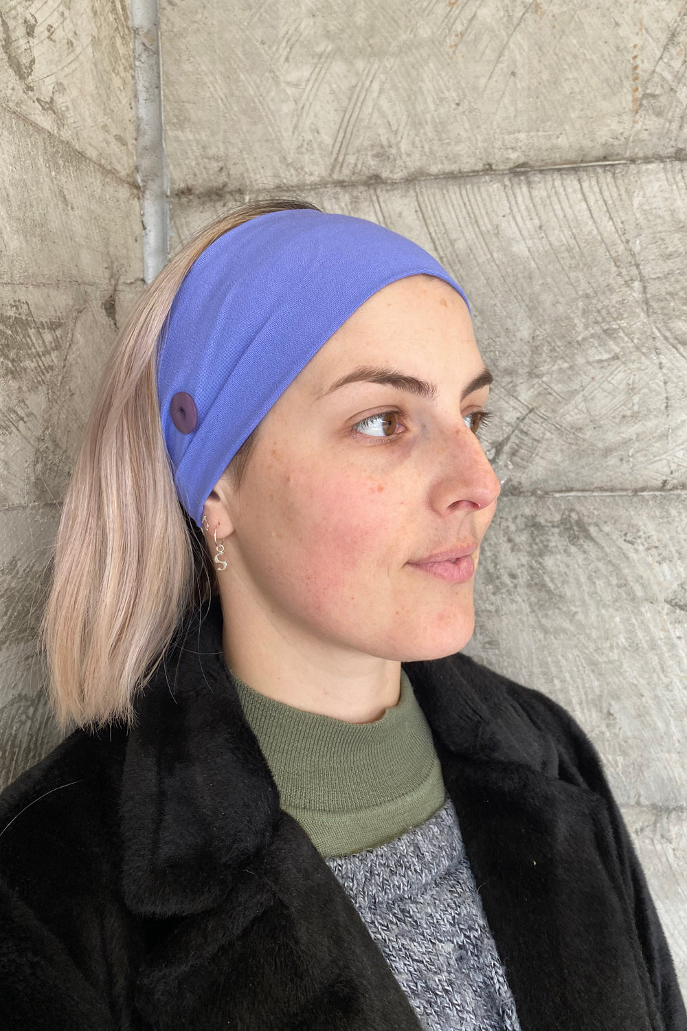 Headband for Face Mask Wear - Pack of 2 Sky Blue