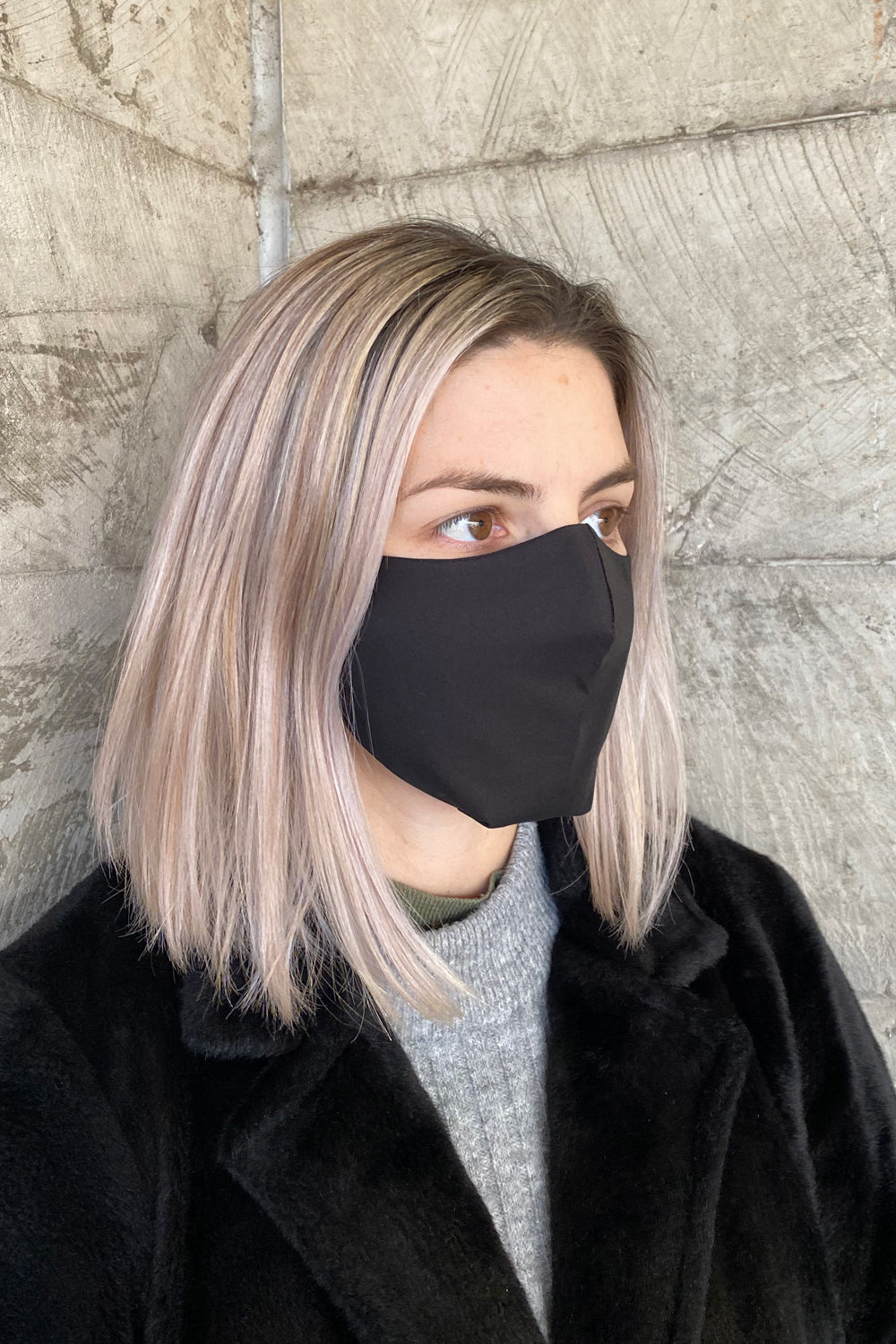 Women's Simplistic Cotton Face Mask (With Helix.iso Filter) - Black