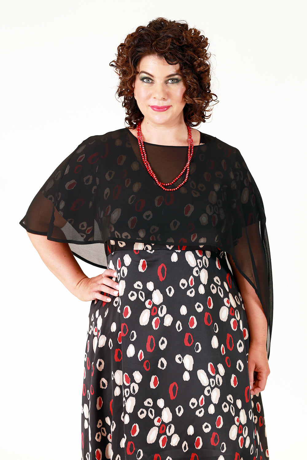 Jana Cape Top - Black
