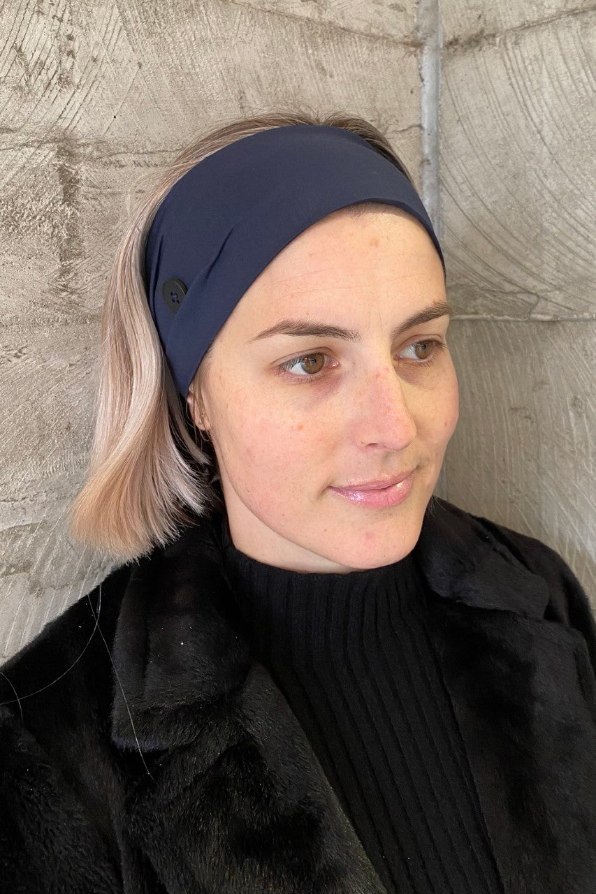 Headband for Face Mask Wear - Pack of 2 Navy