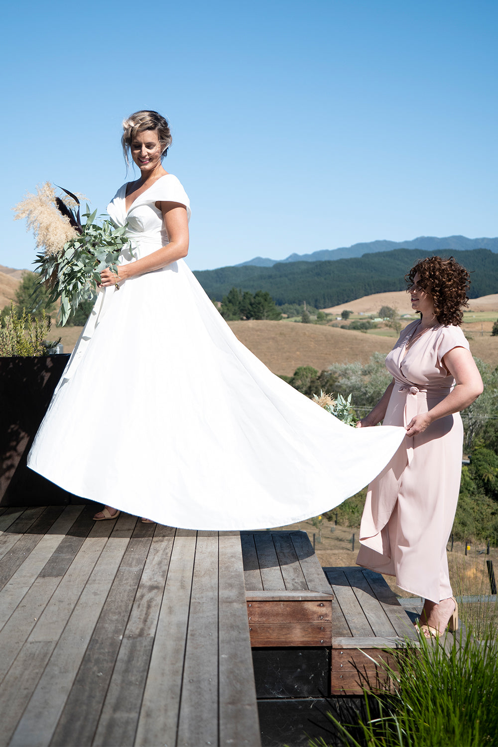 Orchid Dreams Wedding Dress | Annah Stretton Affordable Designer Bridal |  Wedding Dresses NZ | Designer NZ | Modern Bridal Gown | Off The Shoulder Style Wedding Dress