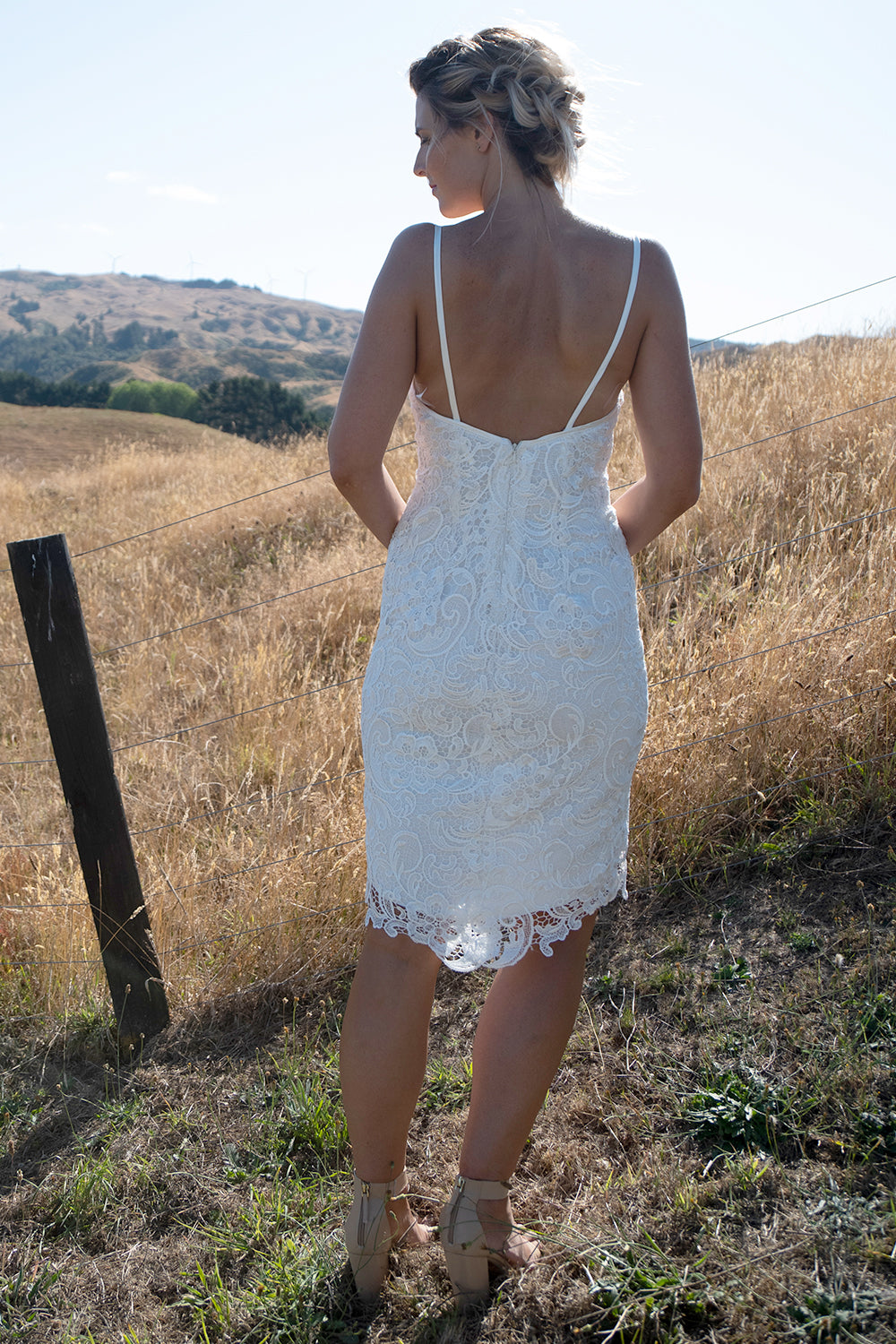 Dani Vegas Wedding Dress | Annah Stretton Affordable Designer Bridal | Lace Wedding Dress | Modern Lace Bridal Gown | Mermaid Style Wedding Dress