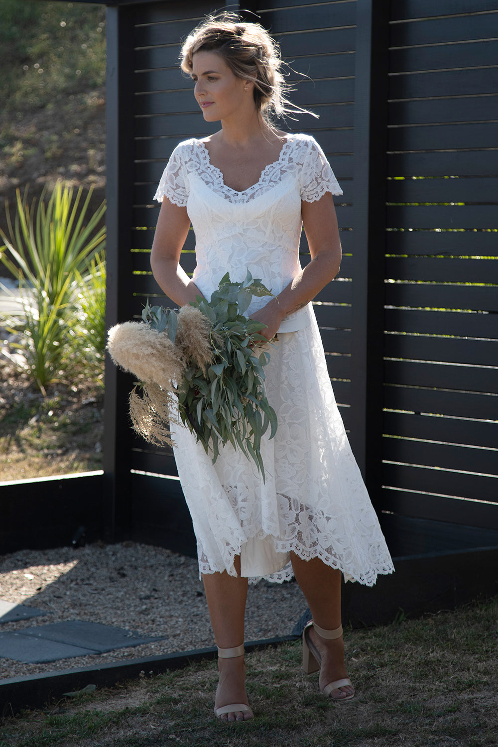 Annah Stretton | Moon River Dress | Wedding Dress | Designer NZ | Wedding Dresses NZ | Lace Wedding Dress | Tea Length Wedding Dress | Cap Sleeve Wedding Dress