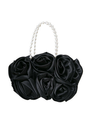 Rose satin evening bags for special occasions