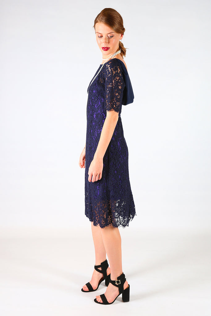 Aleena Tina Lace Dress, Annah Stretton AW19, Knee Length Lace Dress, Shot on Model