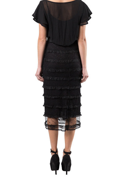black frill skirts for work or special occasions