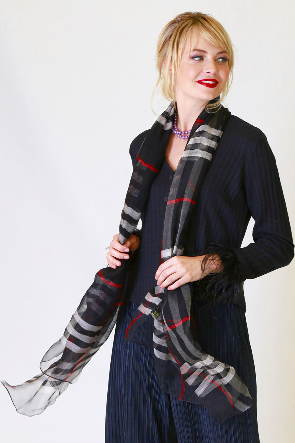 Bonnie Tartan Scarf, Accessory, NZ Fashion, Annah Stretton Fashion