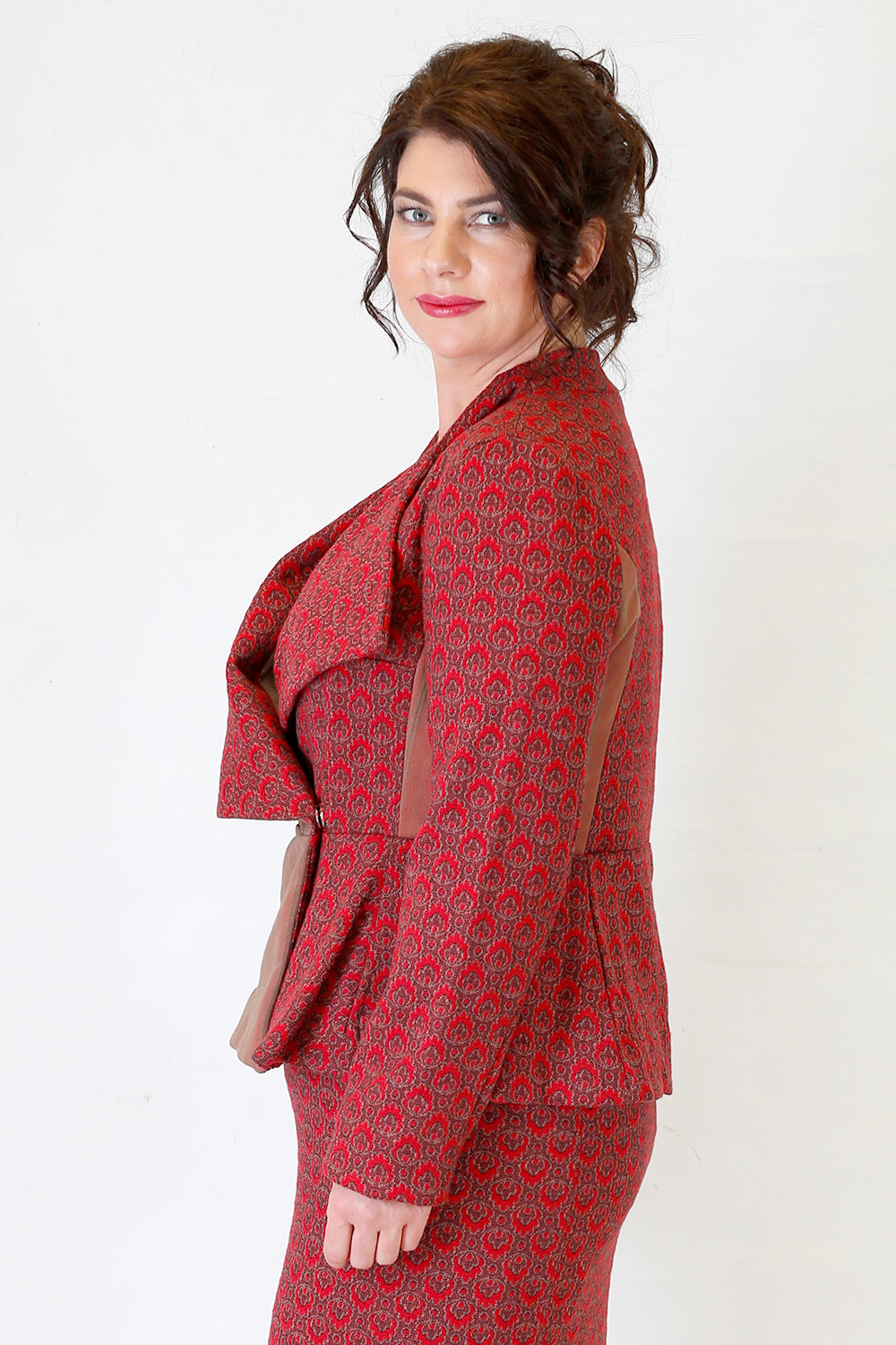 Brenna Calista Jacket Red | Joy | Favourites | New Zealand Designer | On Trend | Annah Stretton