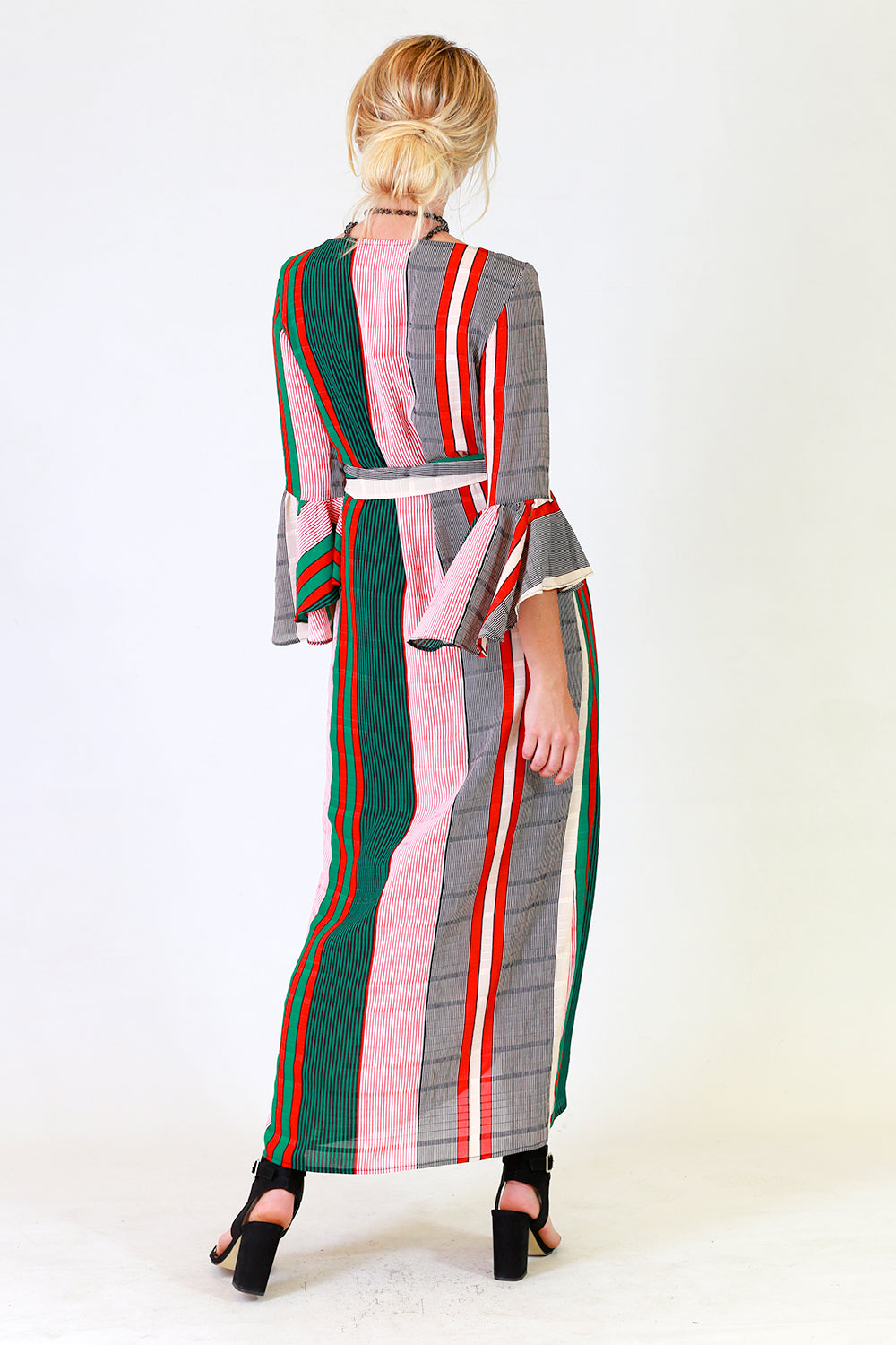 Carah Wrap Dress, Annah Stretton AW19, Wrap Around Dress, Shot on Model