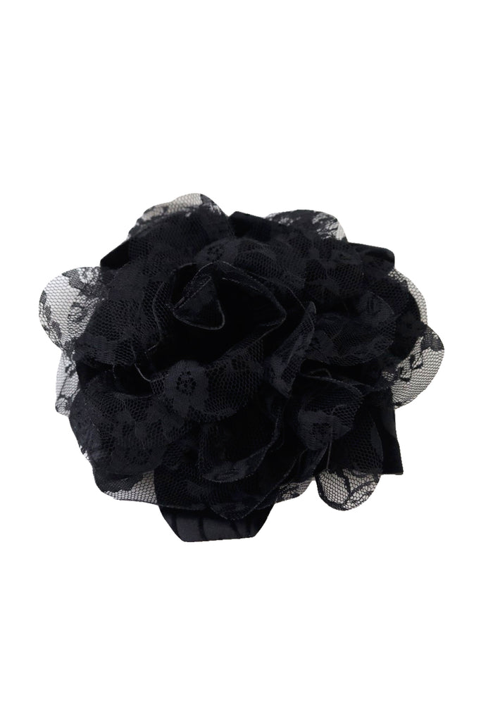 Margo Velvet Flower Brooch
