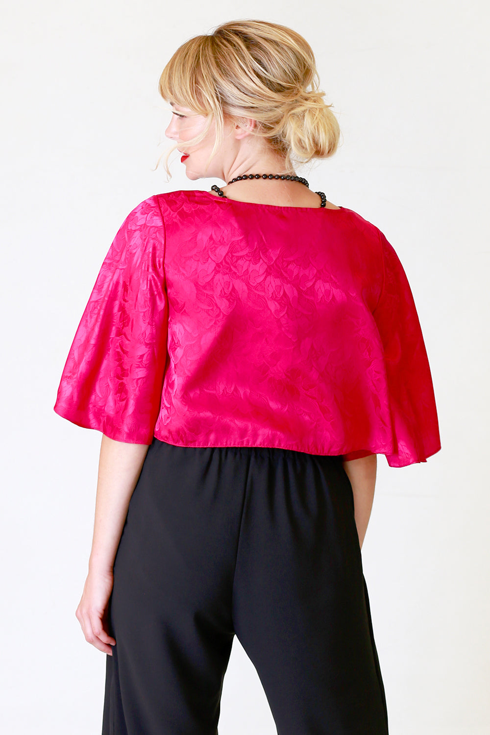 Cora Cece Top | Pink Top | Tops | Winter Collection | Fashion Design | Annah Stretton | New Zealand Fashion Designer