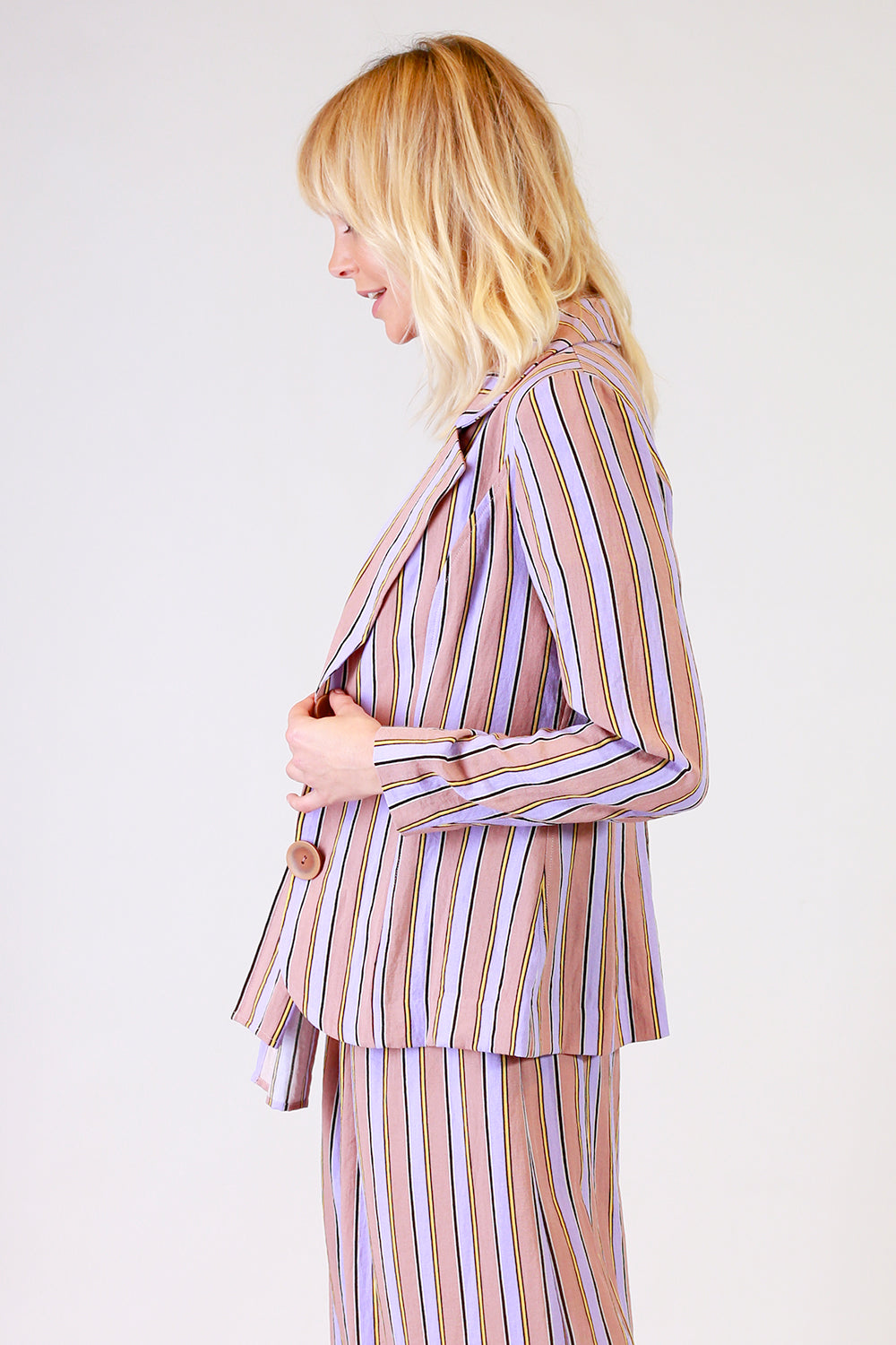 Dangerous Goods Jacket | Stretton NZ | Designer Fashion NZ | Womens Stripe Jacket NZ